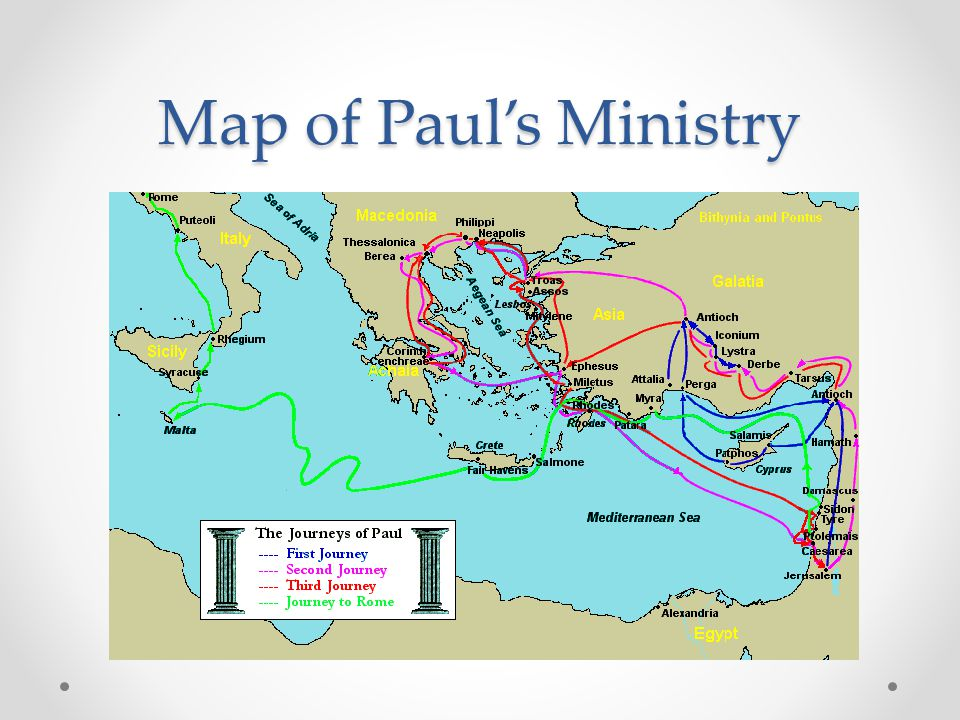 Map of Paul's Ministry