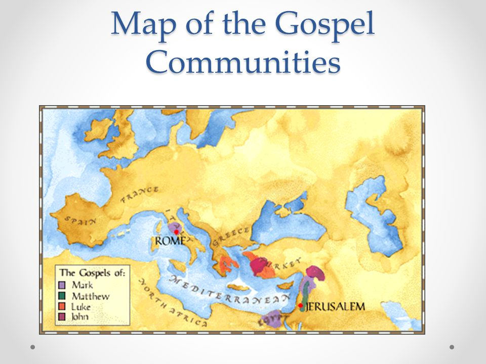 Map of the Gospel Communities