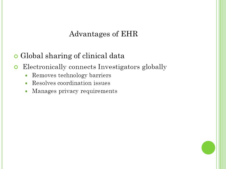 Global sharing of clinical data