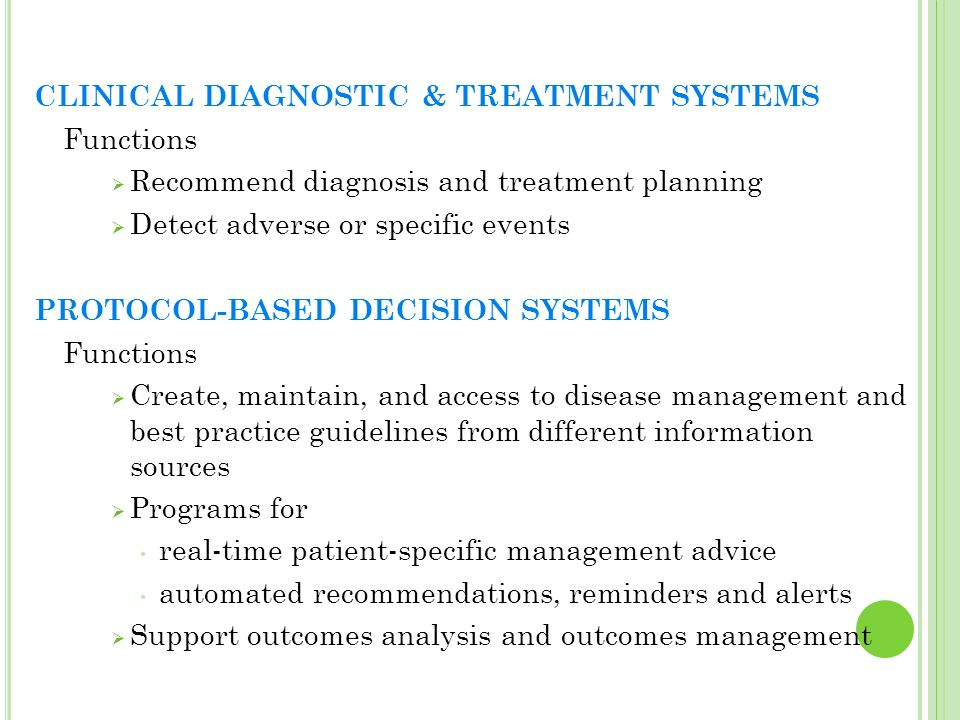 CLINICAL DIAGNOSTIC & TREATMENT SYSTEMS