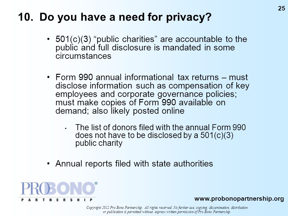10. Do you have a need for privacy