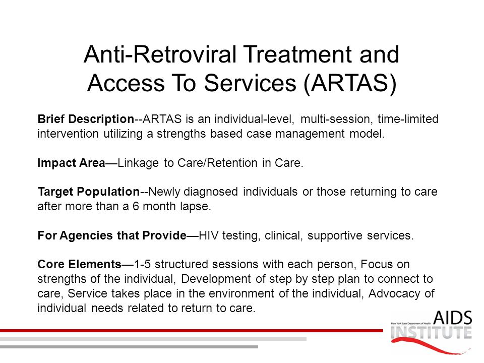 Anti-Retroviral Treatment and Access To Services (ARTAS)