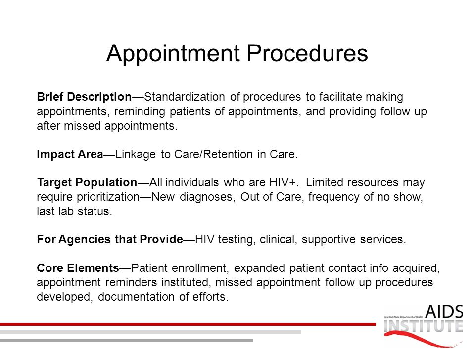 Appointment Procedures