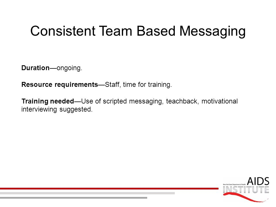 Consistent Team Based Messaging