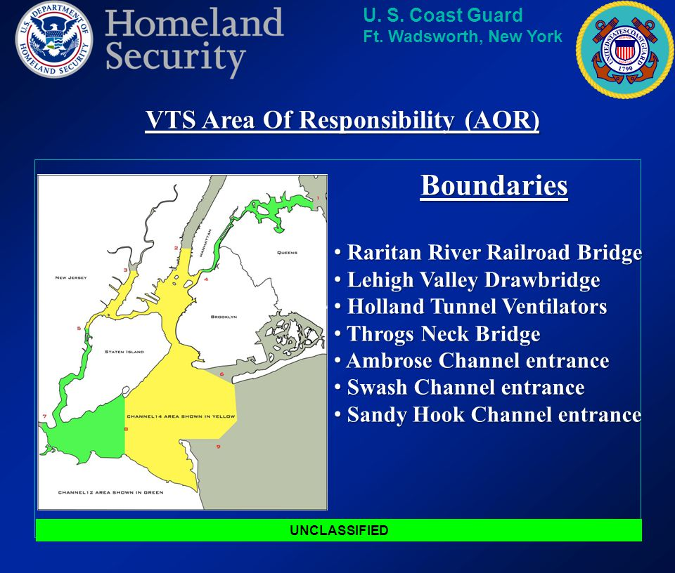 VTS Area Of Responsibility (AOR)
