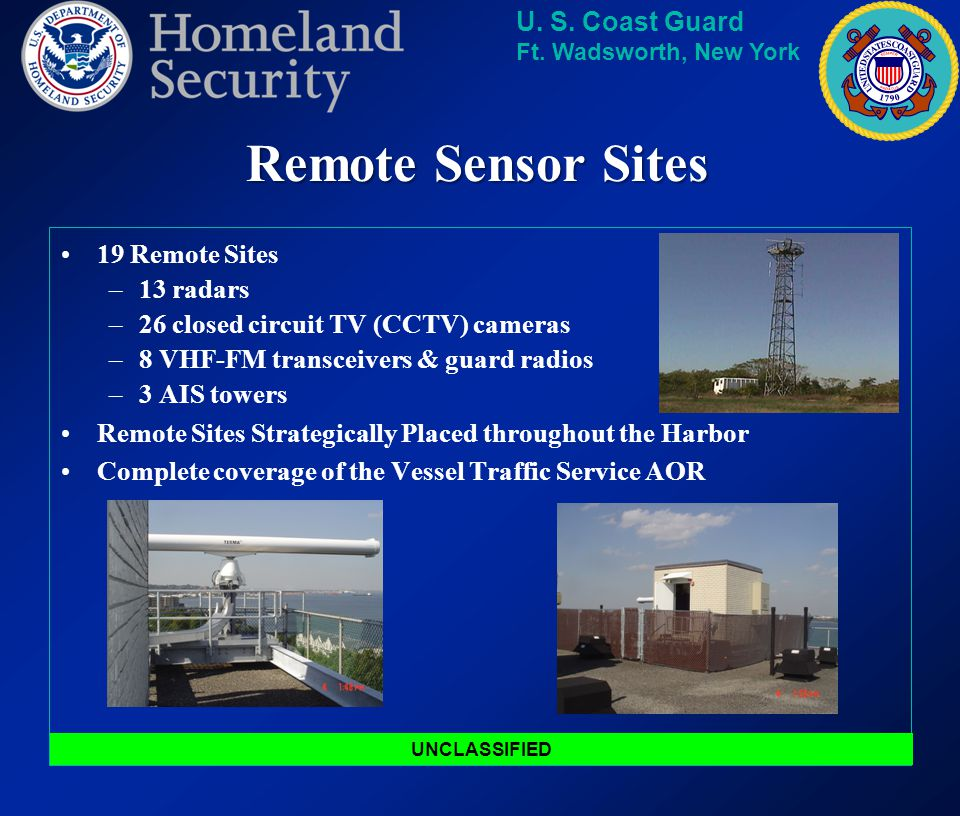 Remote Sensor Sites 19 Remote Sites 13 radars