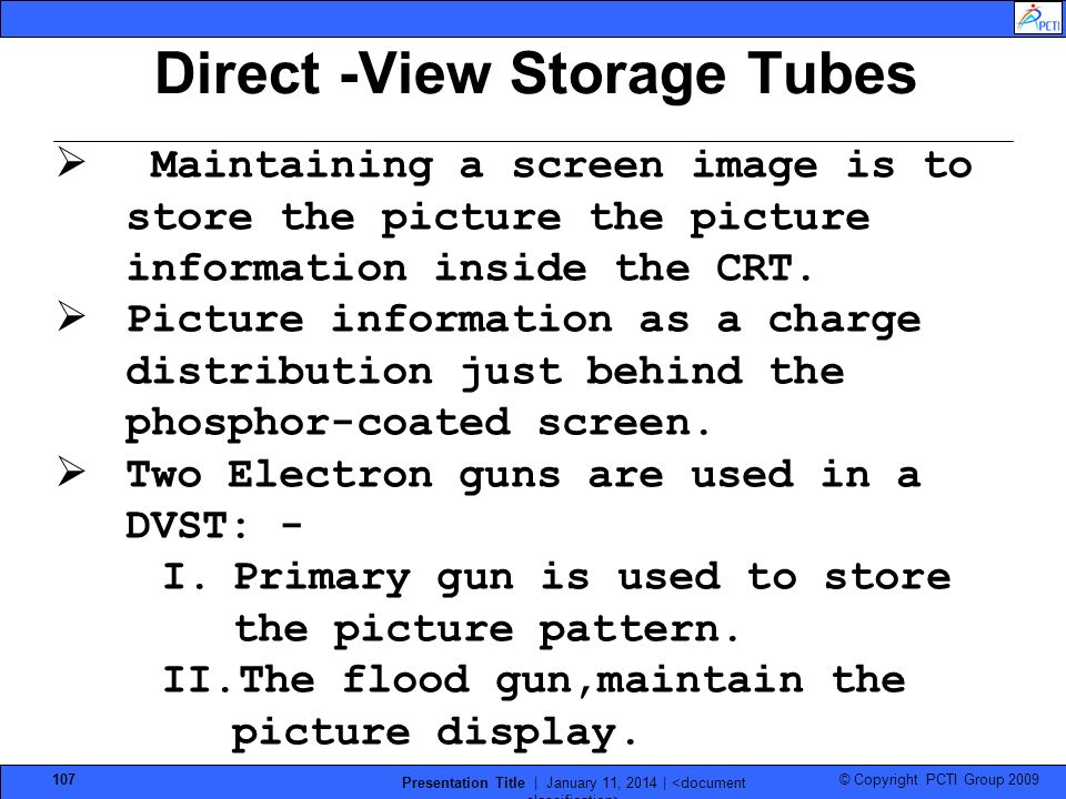Direct -View Storage Tubes