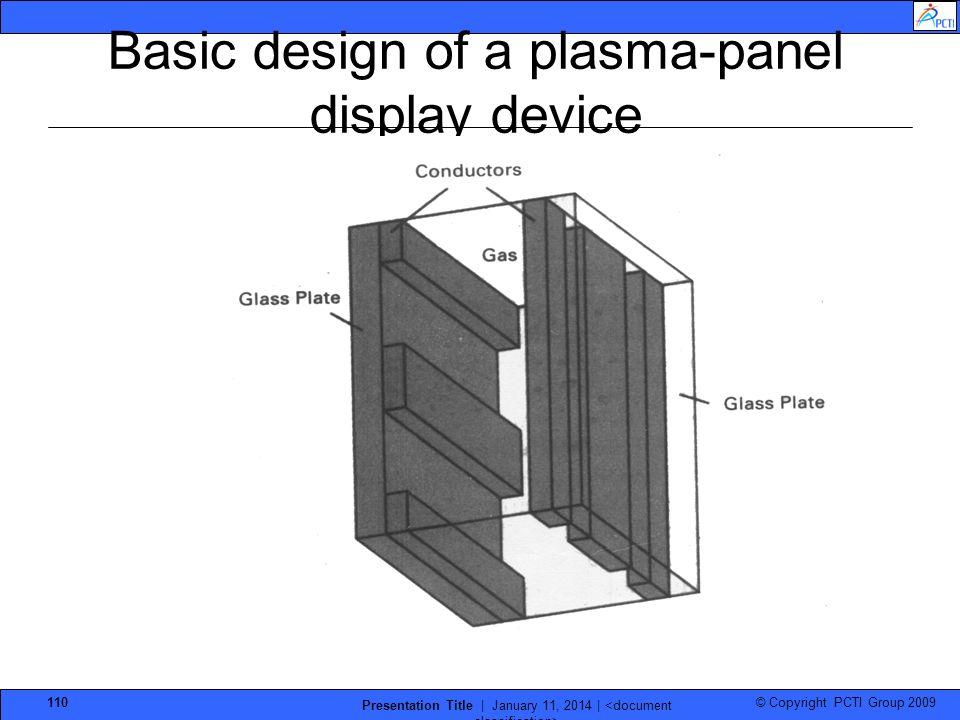 Basic design of a plasma-panel display device