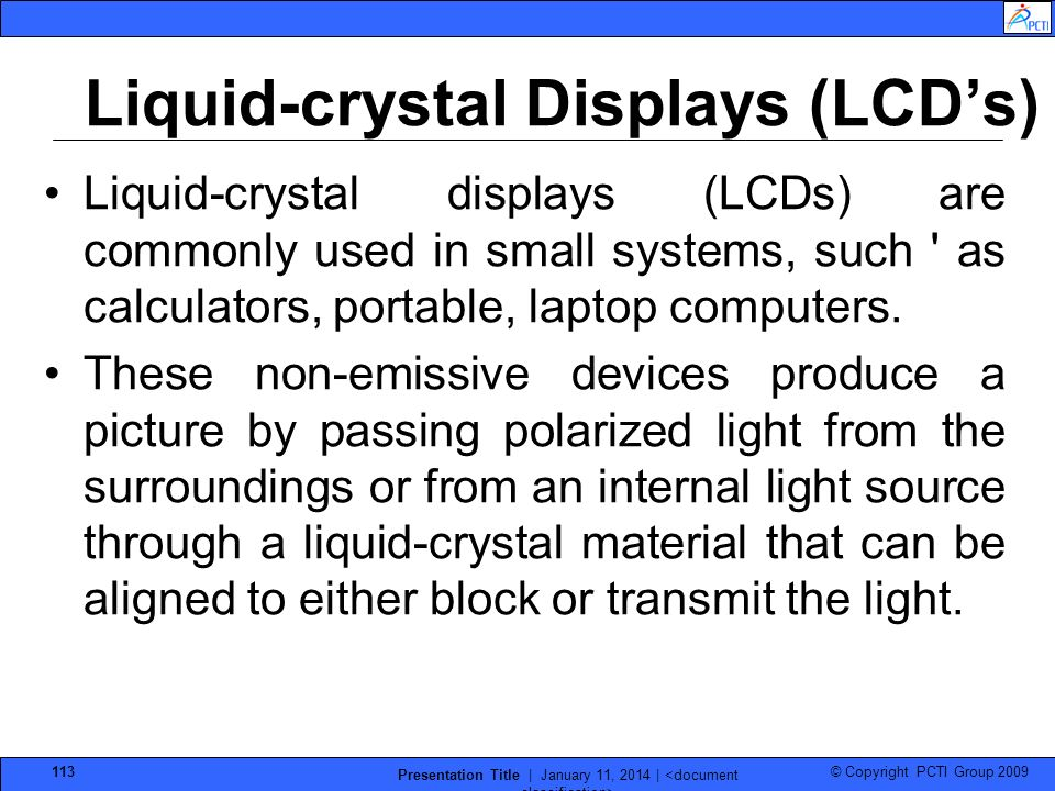 Liquid-crystal Displays (LCD's)