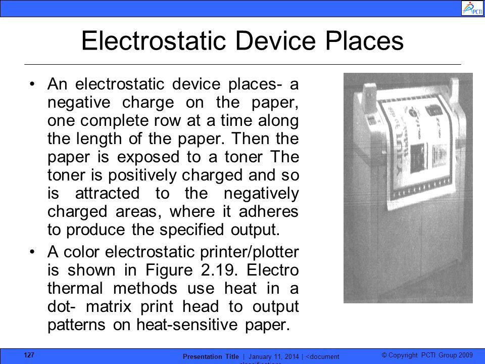 Electrostatic Device Places
