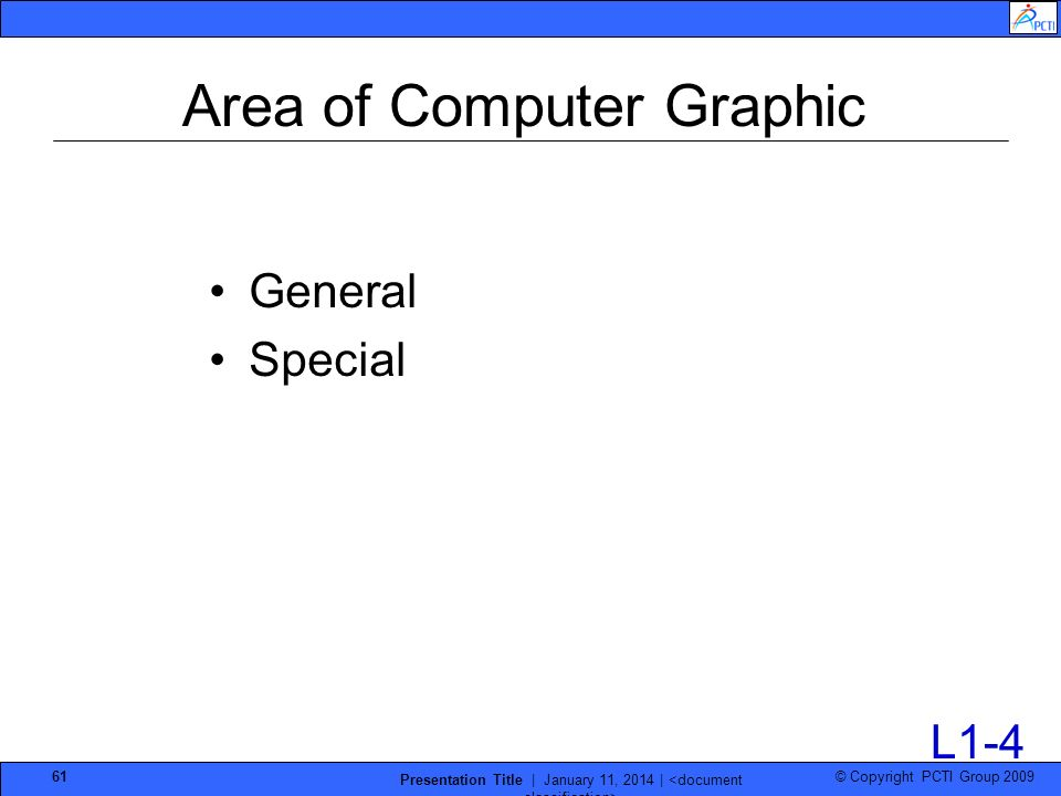 Area of Computer Graphic