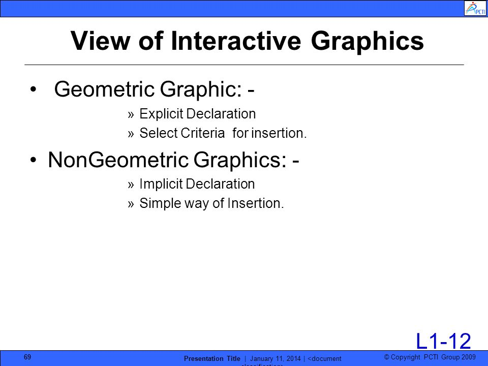 View of Interactive Graphics