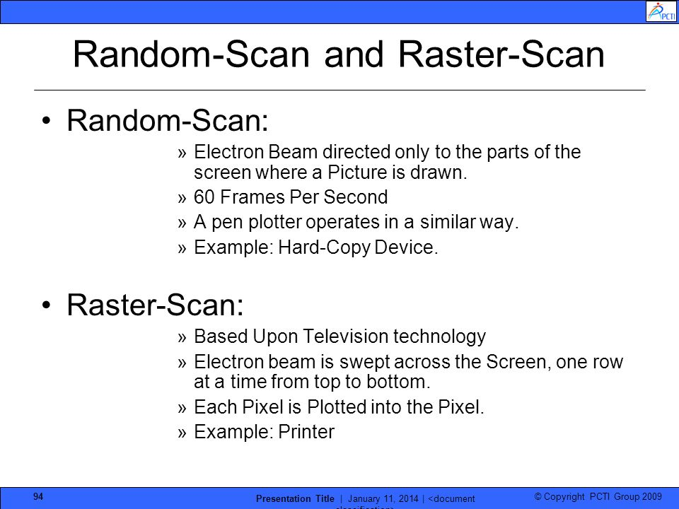 Random-Scan and Raster-Scan