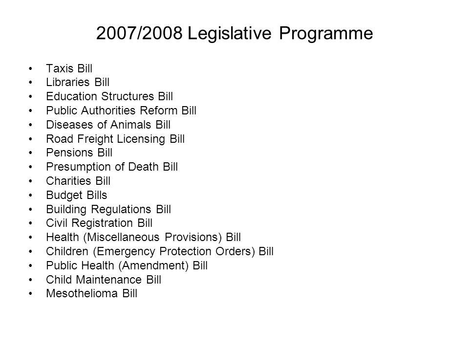 2007/2008 Legislative Programme