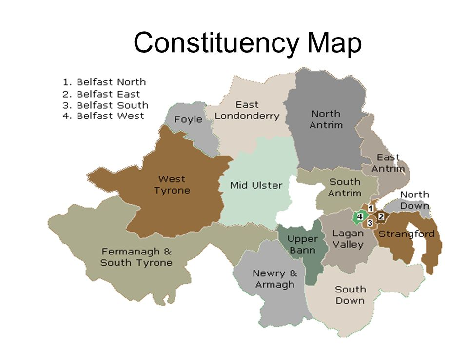 Constituency Map ELECTIONS – every 4 years (initial term of 5 years)