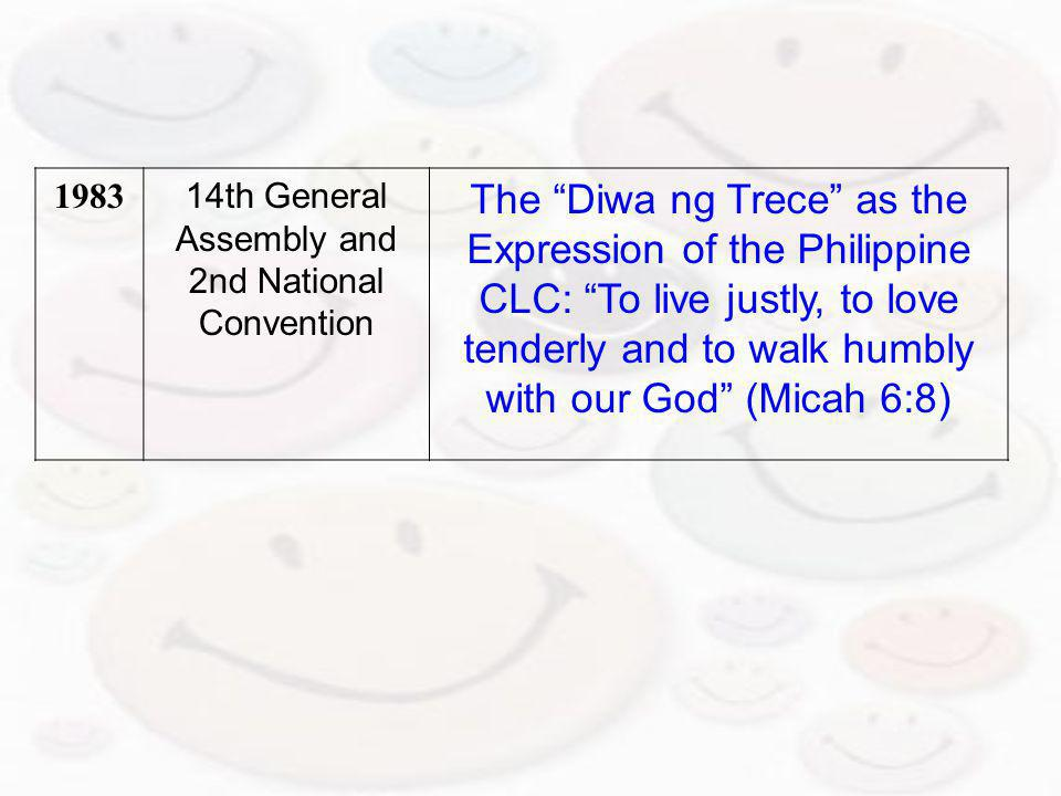 14th General Assembly and 2nd National
