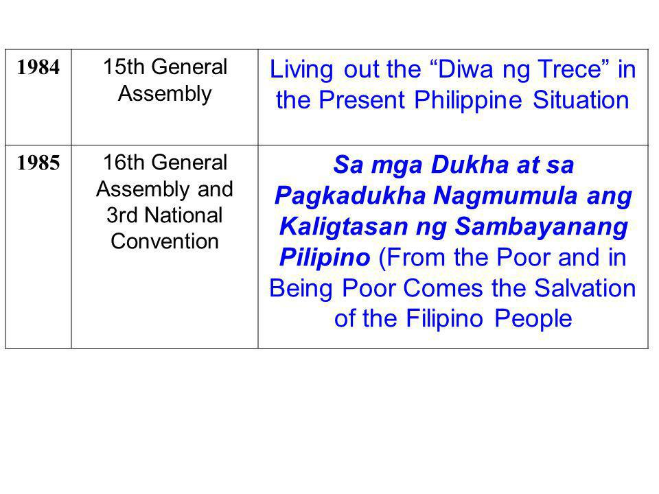 Living out the Diwa ng Trece in the Present Philippine Situation