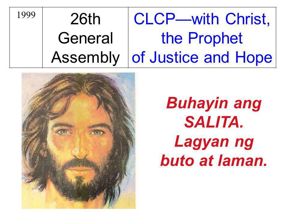 CLCP—with Christ, the Prophet of Justice and Hope