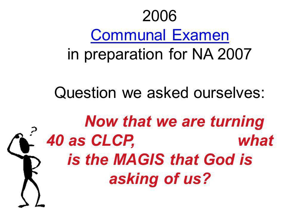 2006 Communal Examen in preparation for NA 2007