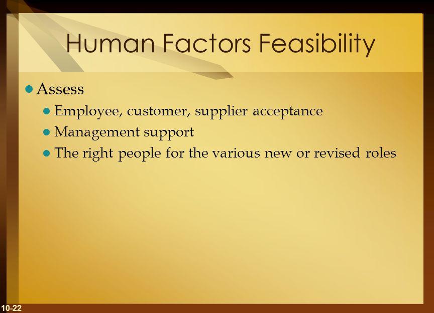 Human Factors Feasibility