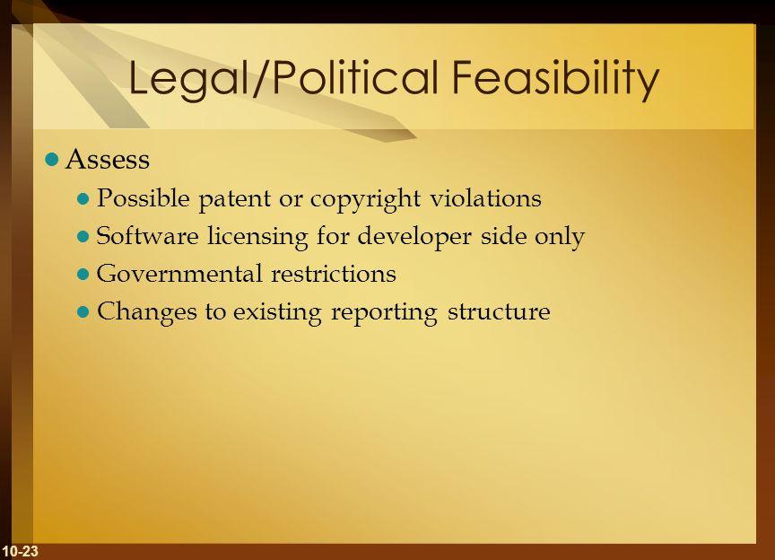Legal/Political Feasibility