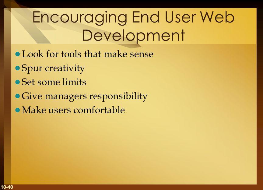 Encouraging End User Web Development