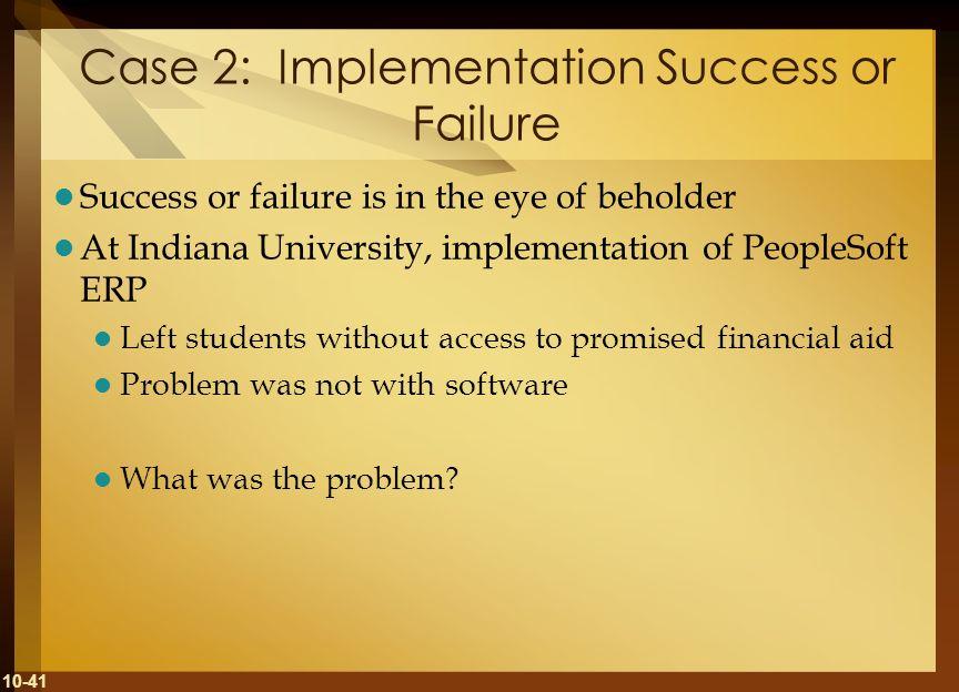 Case 2: Implementation Success or Failure