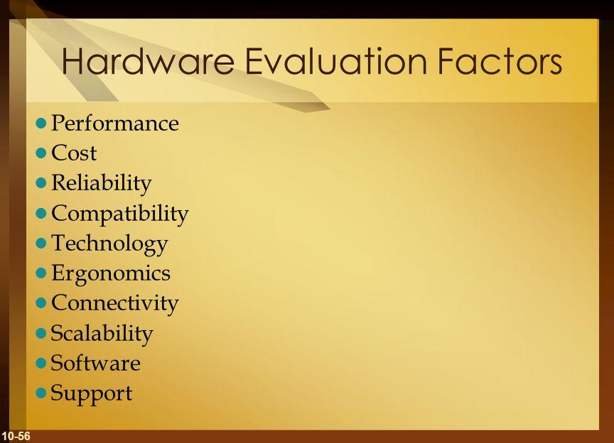 Hardware Evaluation Factors