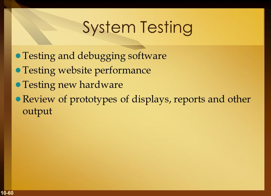 System Testing Testing and debugging software