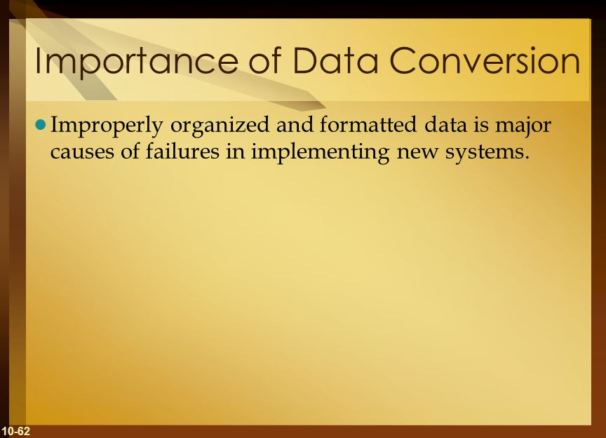 Importance of Data Conversion