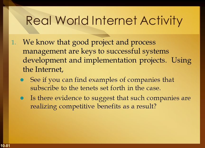 Real World Internet Activity