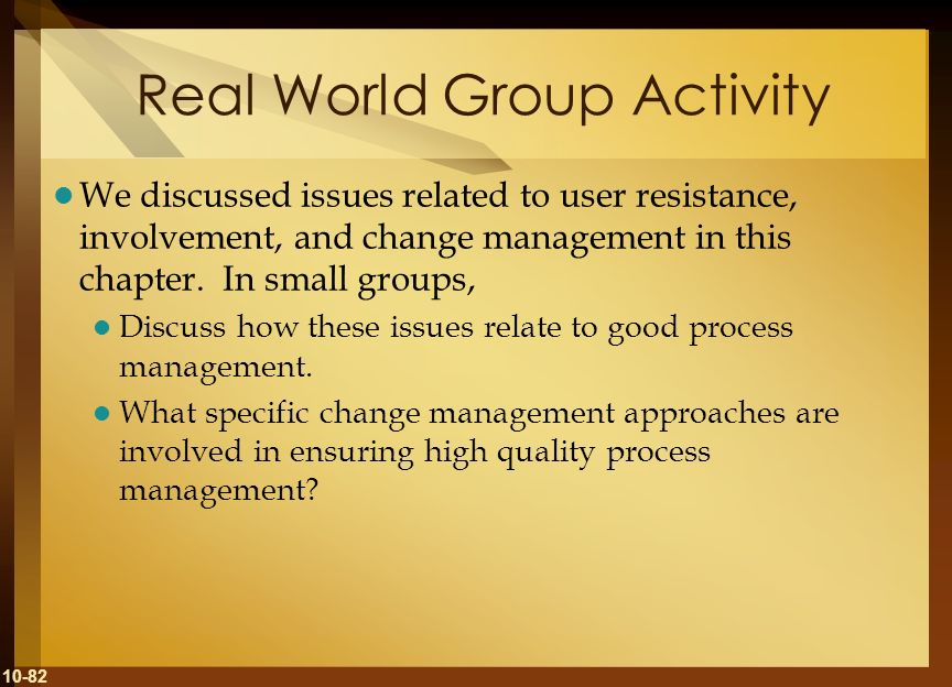Real World Group Activity