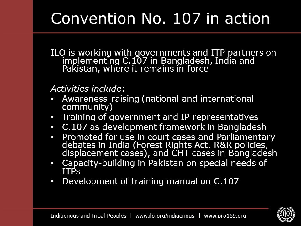 Convention No. 107 in action