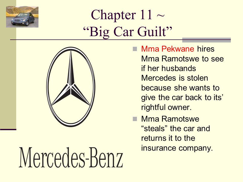 Chapter 11 ~ Big Car Guilt