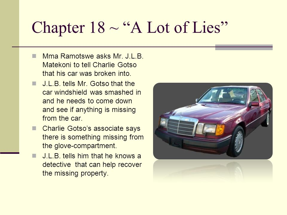 Chapter 18 ~ A Lot of Lies