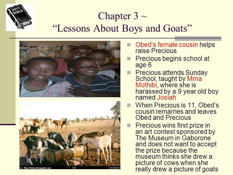 Chapter 3 ~ Lessons About Boys and Goats