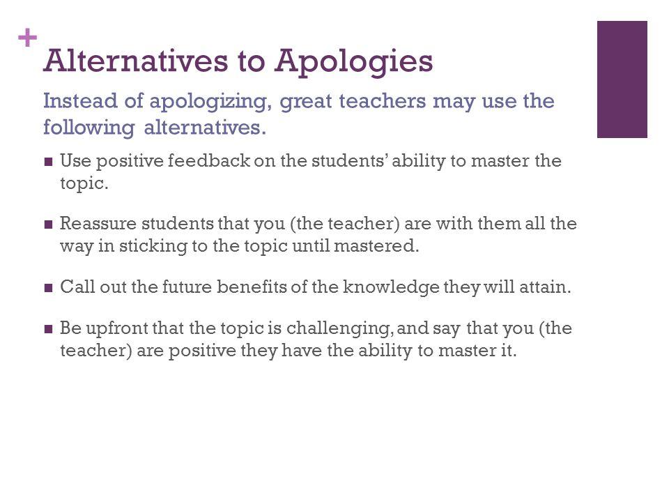 Alternatives to Apologies