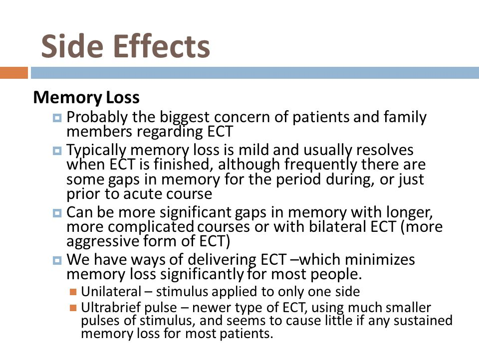 Side Effects Memory Loss