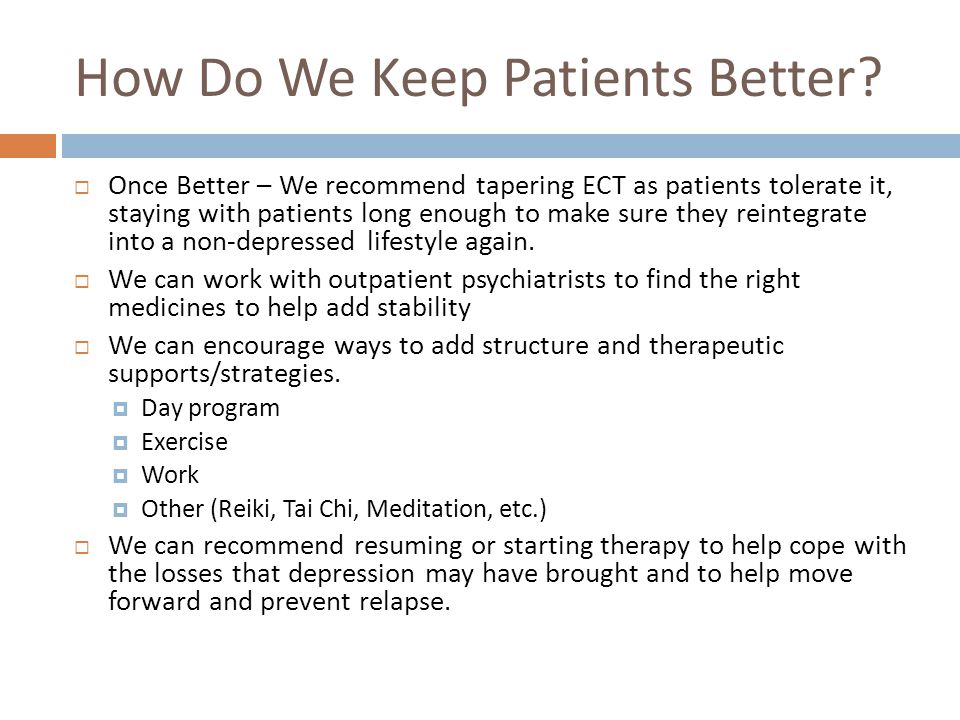 How Do We Keep Patients Better