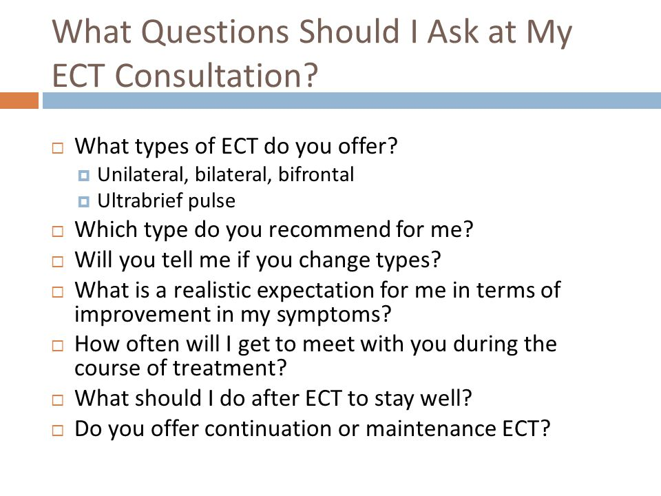 What Questions Should I Ask at My ECT Consultation