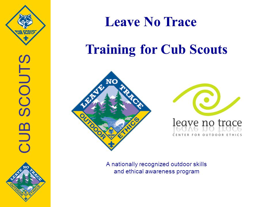 Training for Cub Scouts