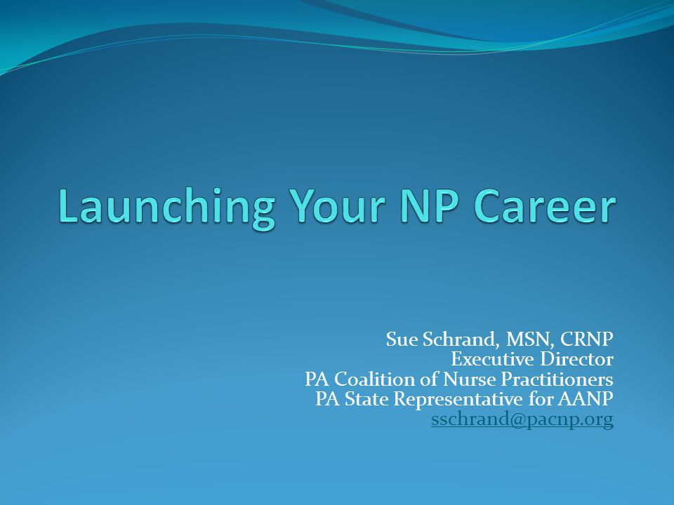 Launching Your NP Career