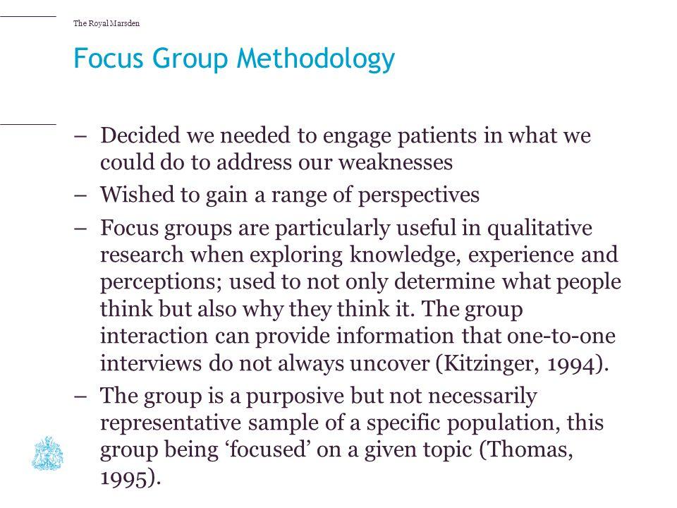 Focus Group Methodology