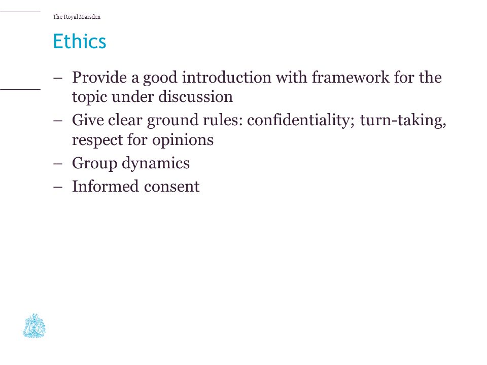 Ethics Provide a good introduction with framework for the topic under discussion.