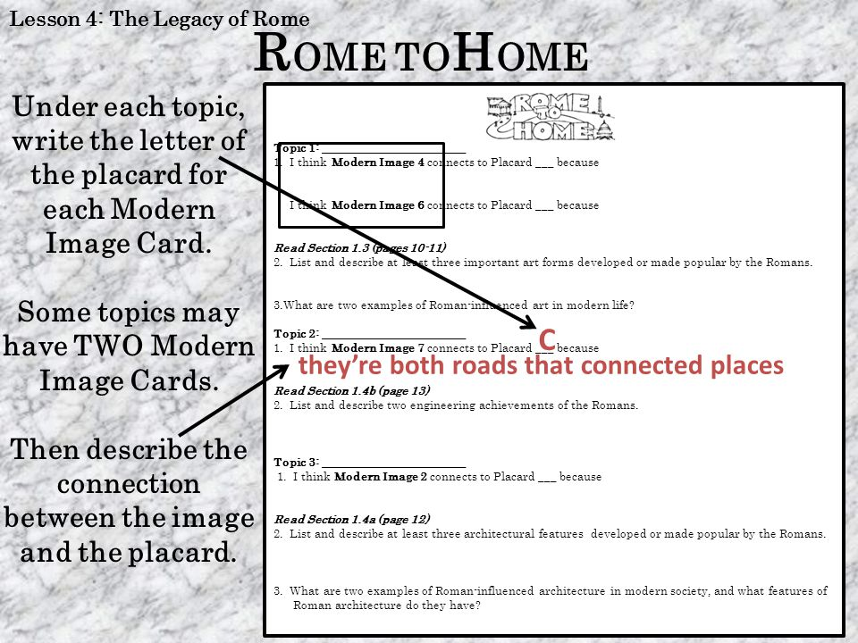 Lesson 4: The Legacy of Rome