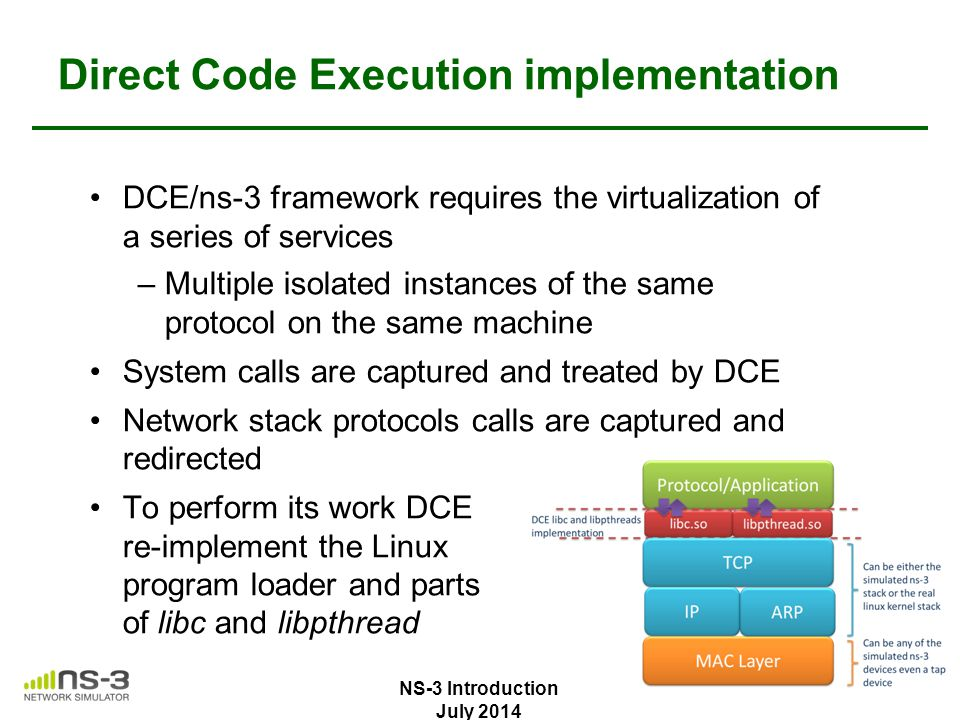 Direct Code Execution implementation