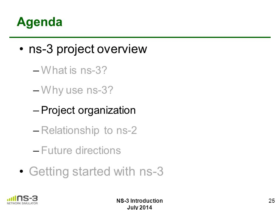 Getting started with ns-3
