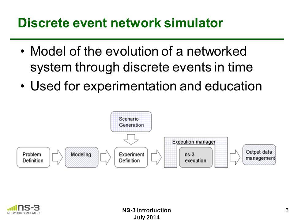 Discrete event network simulator