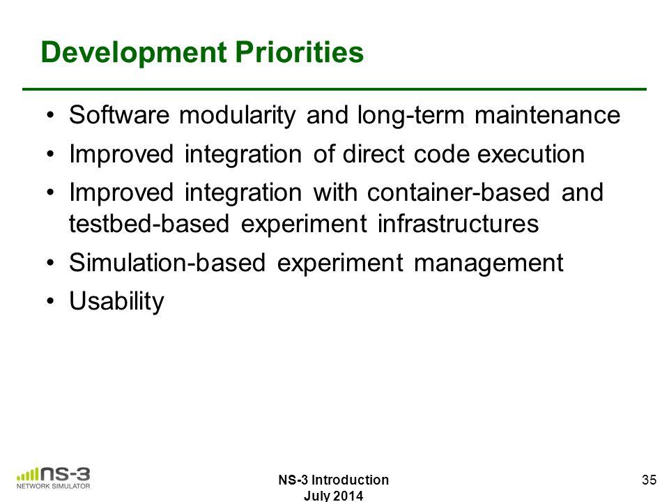 Development Priorities