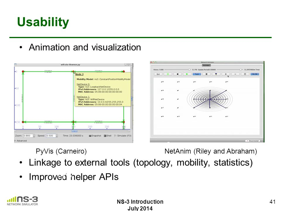 Usability Animation and visualization